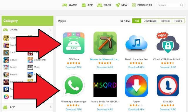 تنزيل متجر APKPure لتحميل التطبيقات والالعاب المدفوعة مجانا