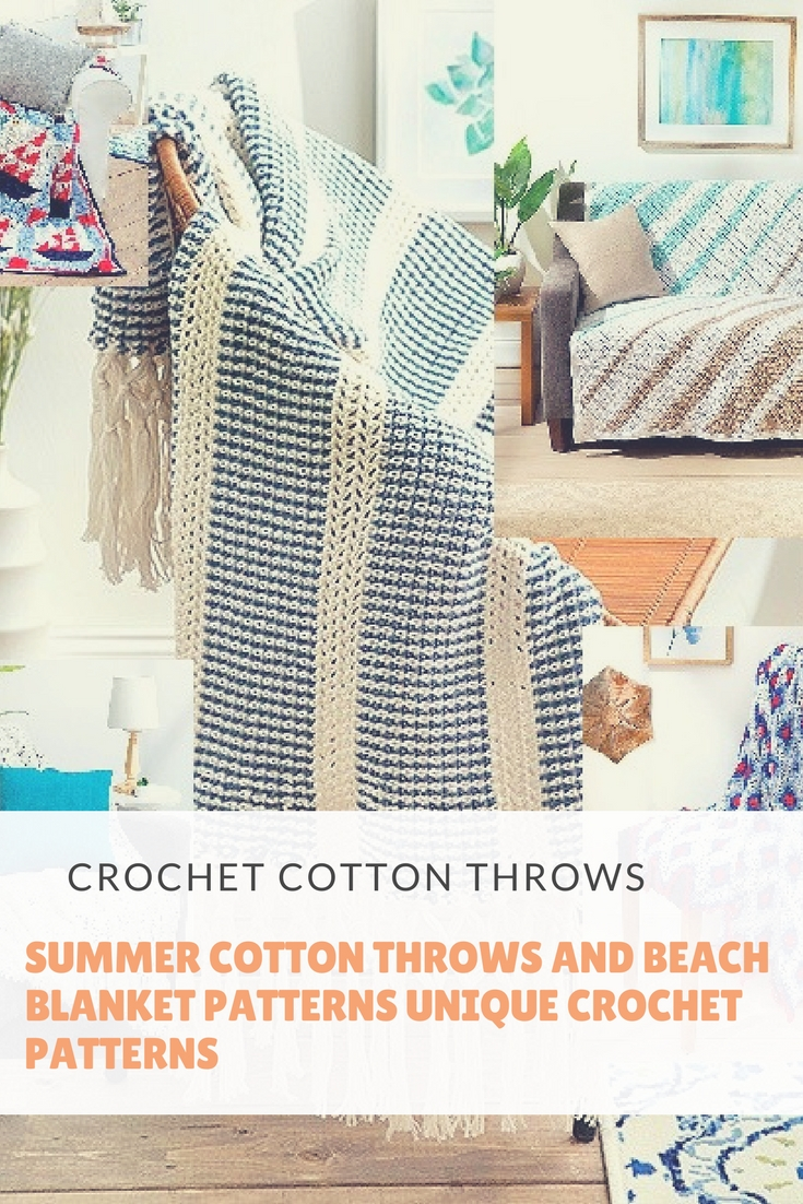 Summer Cotton Throws And Beach Blanket Patterns Unique Crochet