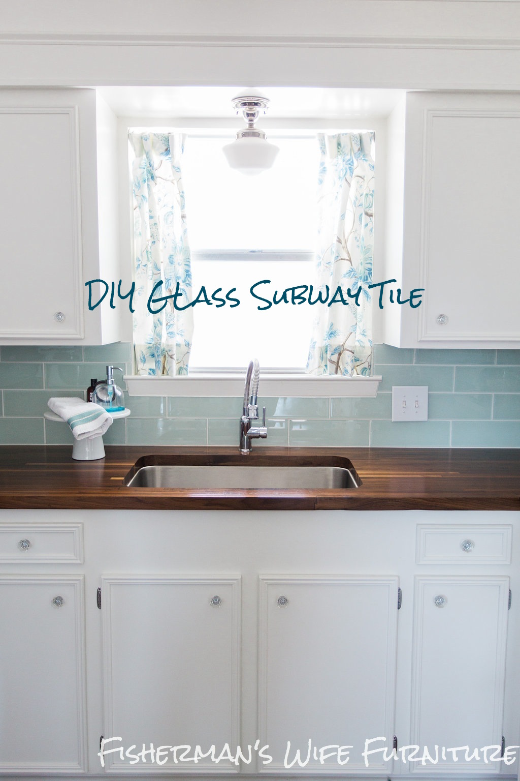 Sea Glass Kitchen Backsplash