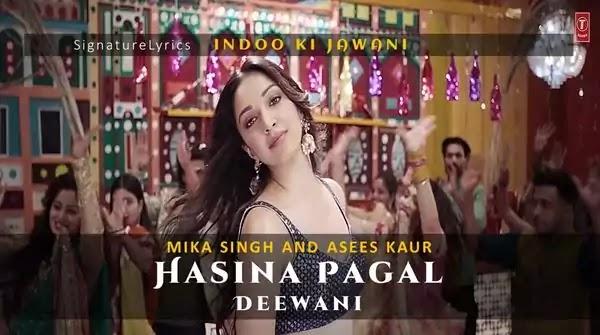 Hasina Pagal Deewani Lyrics -Hin-Eng - Indoo Ki Jawani - Mika Singh