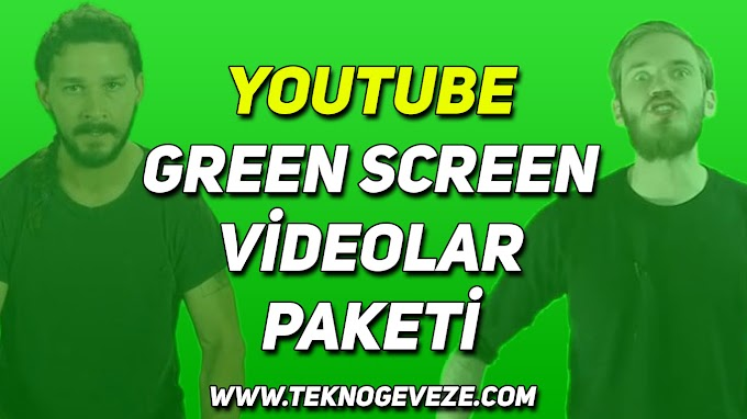 YOUTUBE Green Screen Videolar Paketi İndir