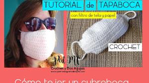 Tapabocas con filtro hecho en casa | Tutorial crochet