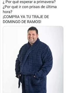 Meme traje domingo de Ramos