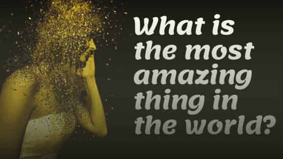 What is the most amazing thing in the world?