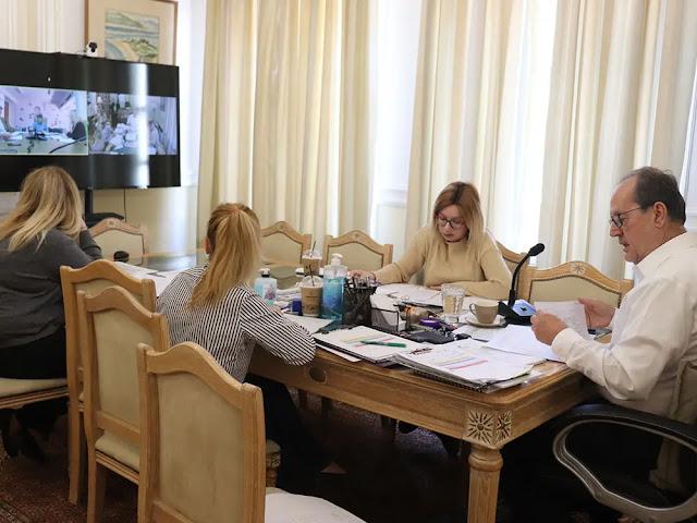 Η πορεία των μελετών στην Περιφέρεια σε τηλεδιάσκεψη