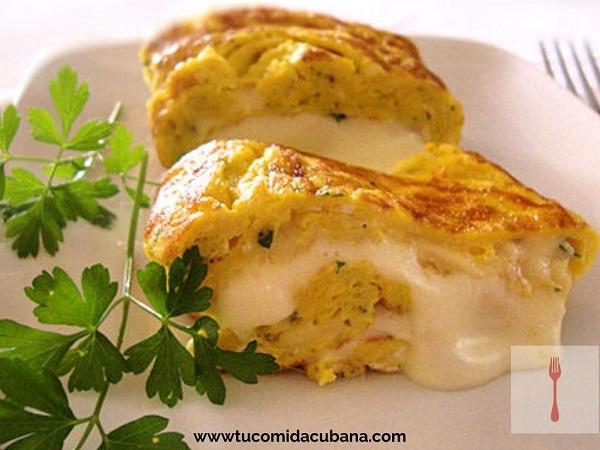✔️ Cómo hacer tortilla de queso - COMIDA CUBANA
