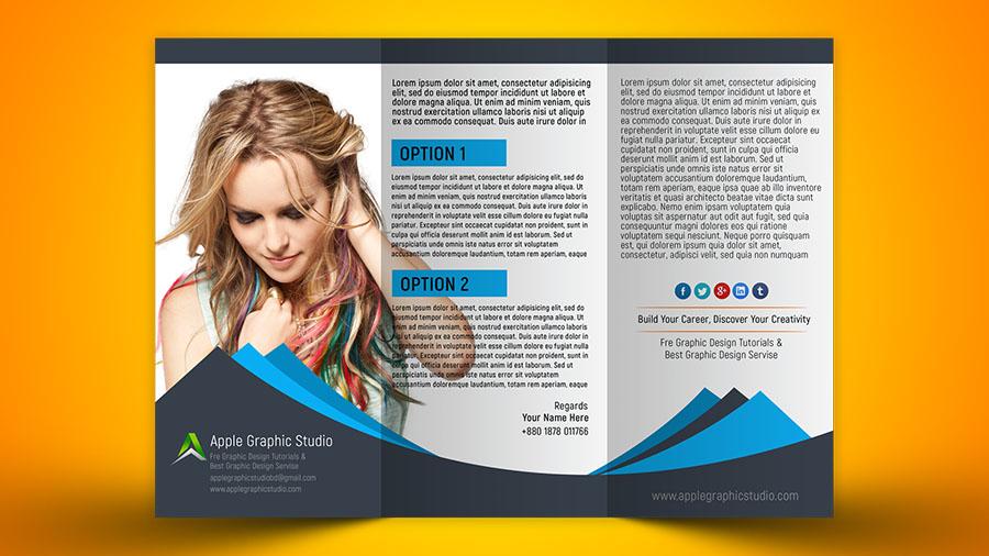 How to Design Tri fold Brochure - Photoshop CC 2018 Tutorial - Apple