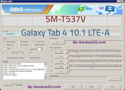 سوفت وير هاتف Galaxy Tab 4 10.1 LTE-A موديل SM-T537V روم الاصلاح 4 ملفات تحميل مباشر