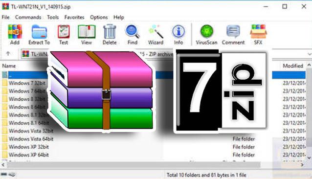 تحميل برنامج winrar -rar كامل -  zip 32 bit - 7zip لفك الضغط 64