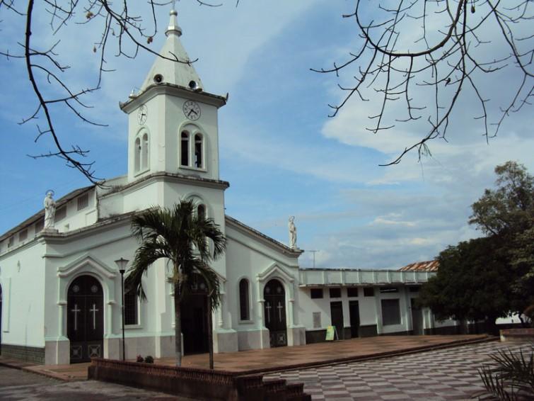 El templo de la Parroquia de Nuestra Señora del Carmen Purificación (Tolima)