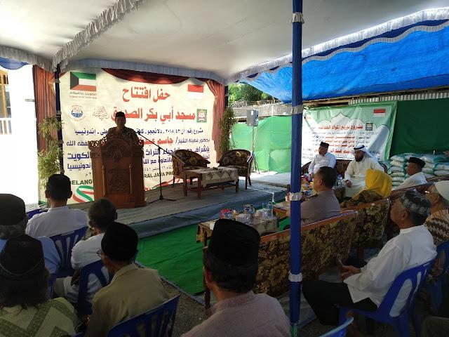Babinsa Koramil 03 Delanggu hadiri peresmian masjid arrayan