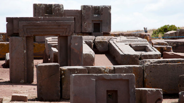 The strange blocks carved at Pumu Punku could of been done by Advanced Technology.