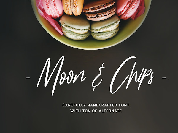 Moon & Chips Handcrafted Script Font Free Download
