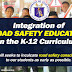 Integration of ROAD SAFETY EDUCATION in K-12