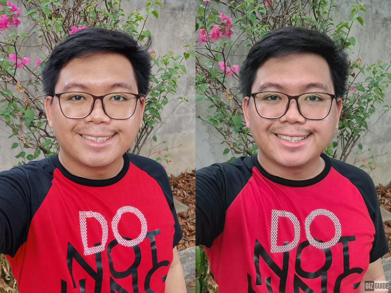 P40 Pro and S20+ daylight selfie