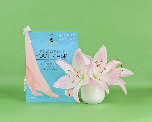 Skinlite Интенсивно восстанавливающая маска-носки для ног «Абрикос» Intensive Repair Foot Mask: отзывы с фото