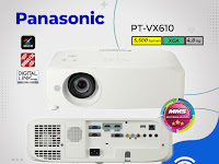 LCD Projector Panasonic PT‐VX610, 5,500 lumens, XGA (1024 x 768)