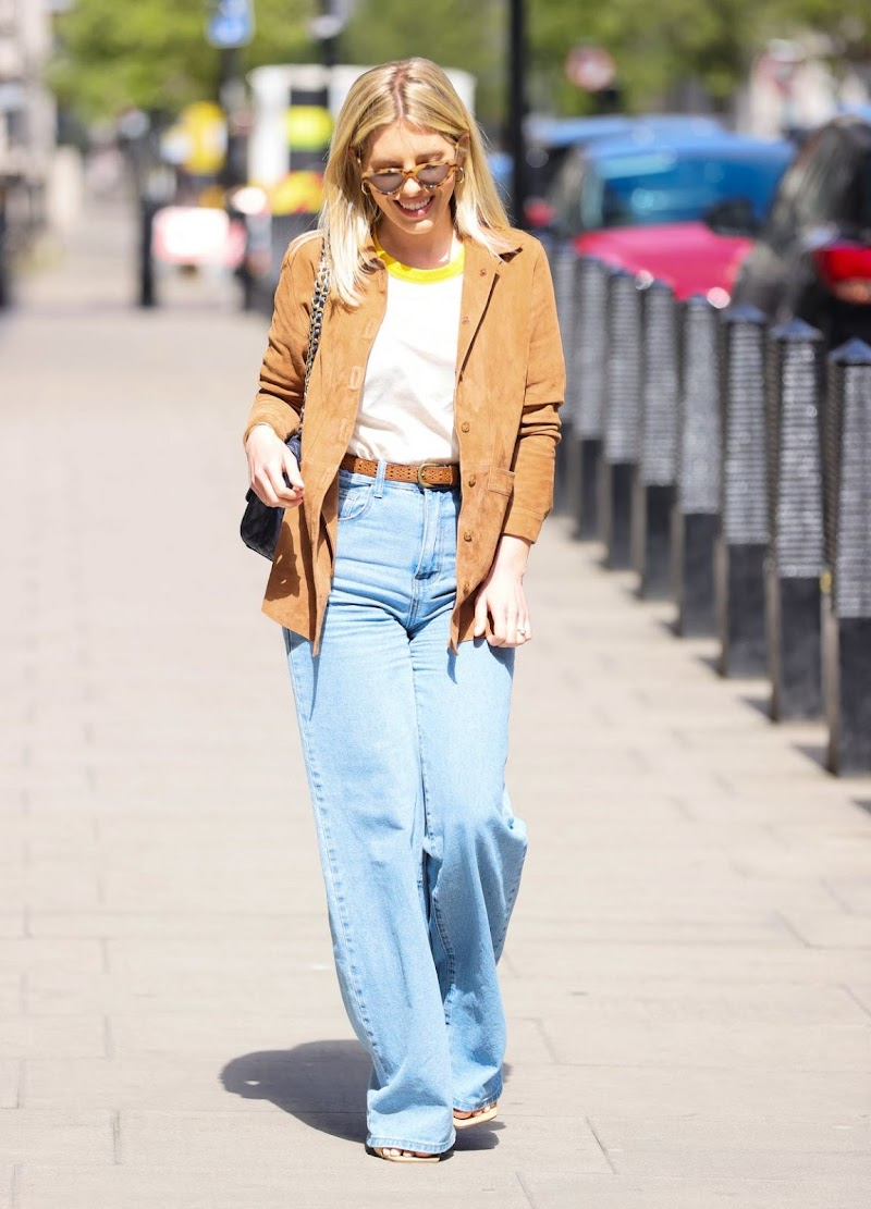Mollie King Spotted At BBC Radio in London 25 Apr-2021
