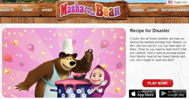 Juegos de Masha y el Oso para Moviles y Tablets