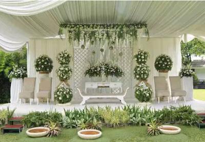 dekorasi pernikahan unik