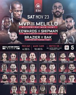 Bellator MMA 23 Kasım Londra - canlı yayın