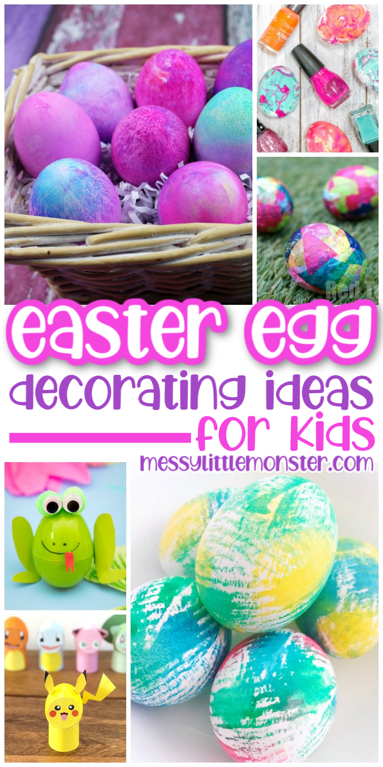 Easter egg decorating ideas for kids. Dyeing Easter eggs.