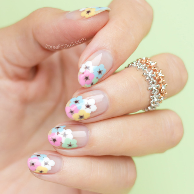 Makeup Beauty Everyday Tutorial Negative Space Floral Nail Art