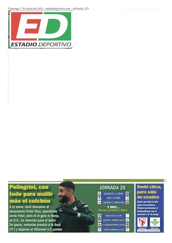 """Betis, Estadio Deportivo: """"Pellegrini, con todo para mullir más el colchón"""""""