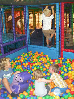 krazy kaves ballpit action with climbing