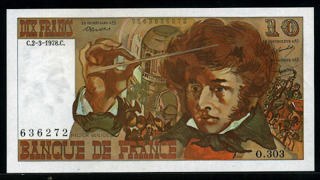 France money currency 10 French Francs euros banknote cash bill