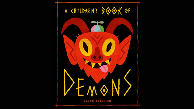 Ilustração de capa do livro A Children's Book of Demon de Aaron Leighton.