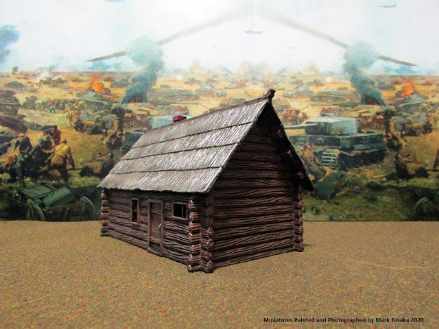 1/72 Italeri Country House with Porch & Pegasus Hobbies Russian Log Houses
