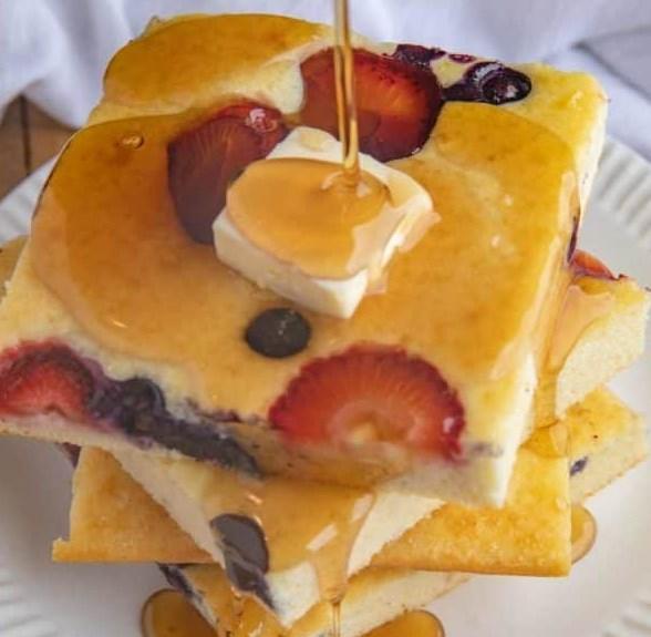 SHEET PAN PANCAKES #dessert #breakfast