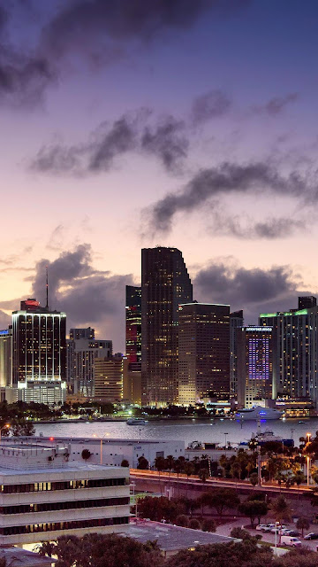 IPhone Twilight Sky City and desktop wallpaper