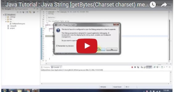 Java ee java tutorial java string getbytes charset for Object pool design pattern java