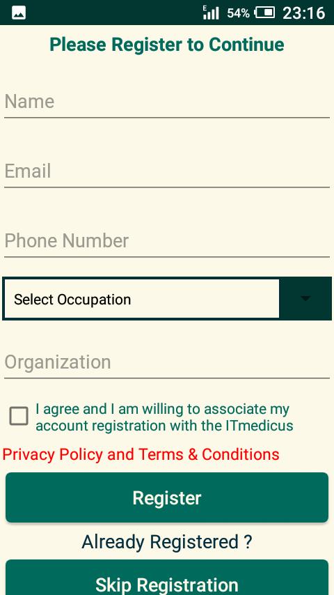 Dims registration