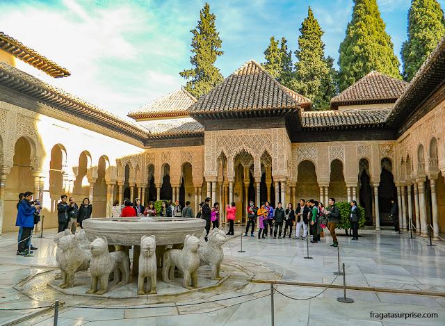 Pátio dos Leões, Alhambra de Granada