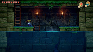 side scrolling section leading down to the boss