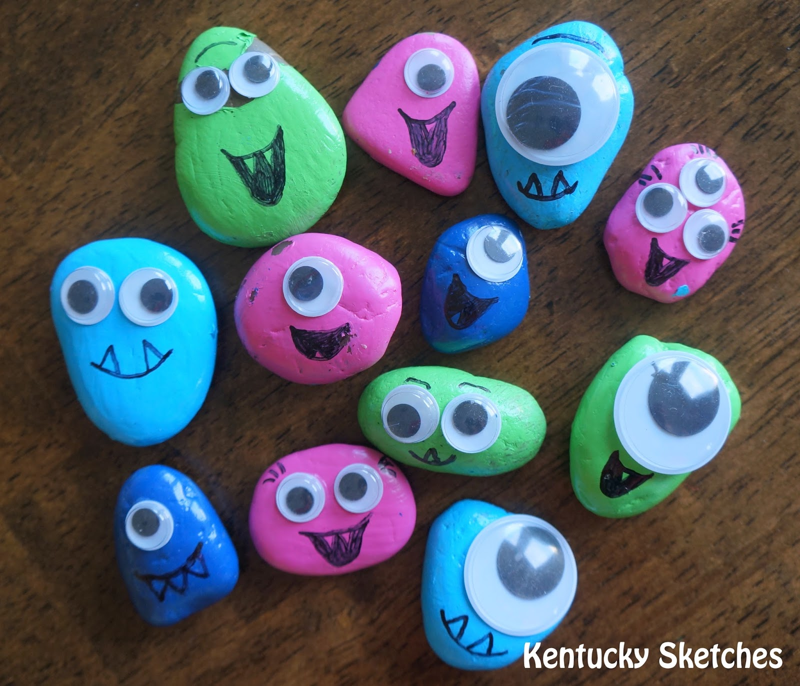 ROCK MONSTERS Plus Tips For Making Crafting With Kids Less Stressful
