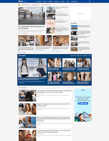 Theme blogger tin tức cho trang báo chí chuẩn code tối ưu hóa quảng cáo
