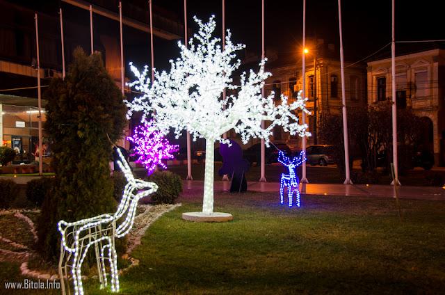 New Year decorations 2016, Bitola, Macedonia