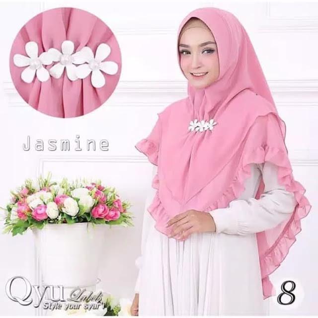 Khimar Jasmine Panjang (Jilbab Instan Syari) Model Terbaru