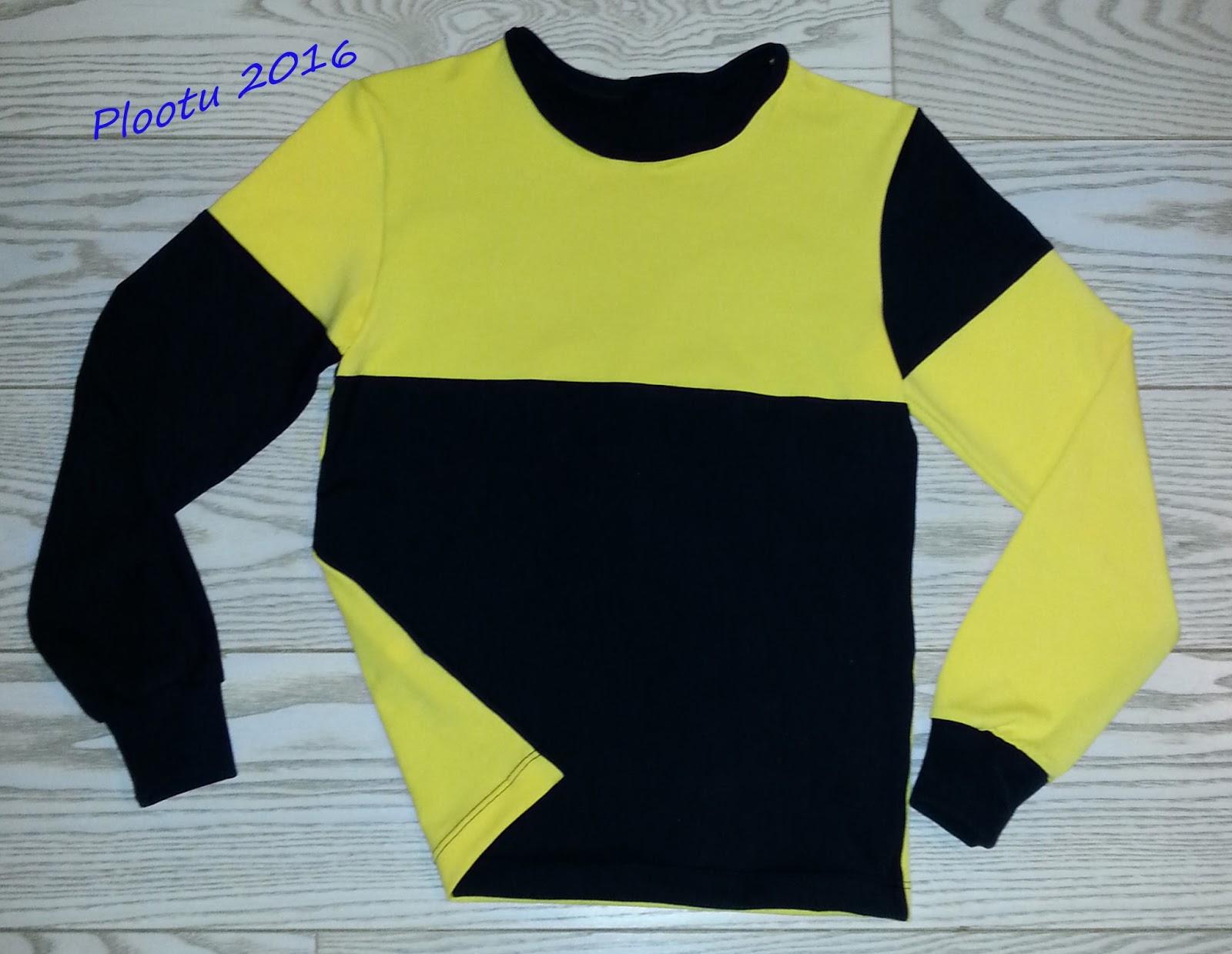 Idea oli siis vuorotella keltaisen ja musta trikoon kanssa  se mikä  etukappaleessa on mustaa dee9e8c0e7