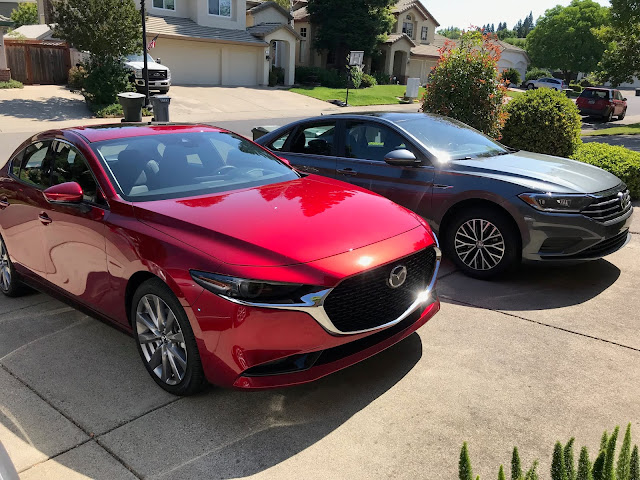 2019 Mazda 3 and 2019 Volkswagen Jetta