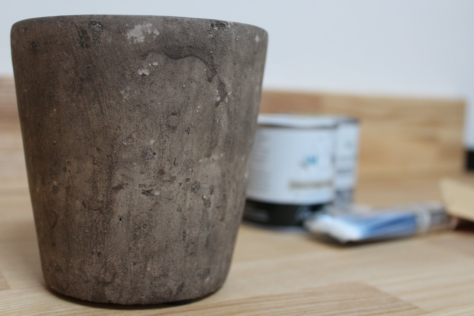 Rustic Concrete Pot