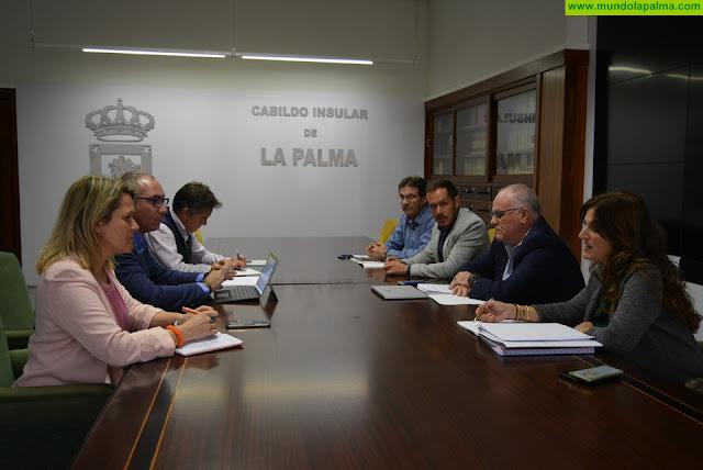 El Cabildo y el Gobierno de Canarias abordan acciones en La Palma para poner más agua en el sistema y en materia de infraestructuras hidráulicas