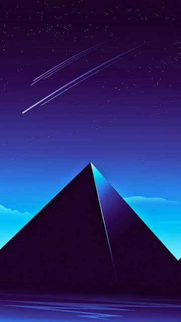 Synthwave Pyramids wallpaper remake