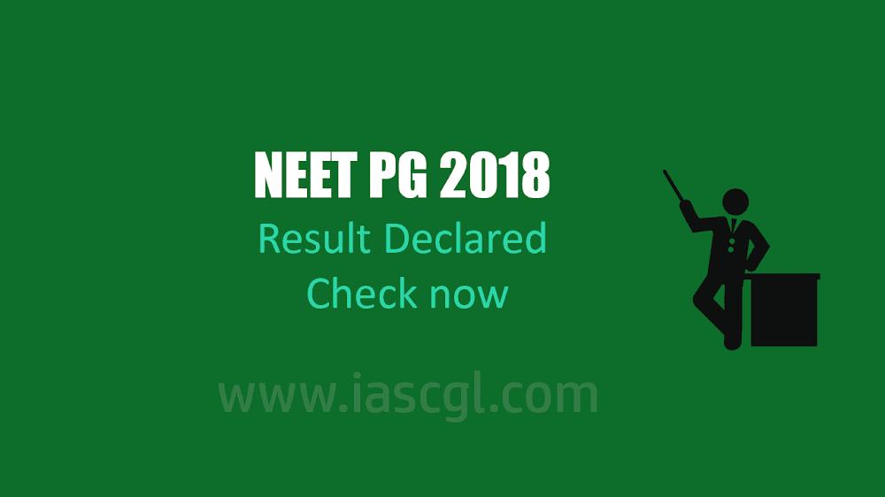 NEET PG Result 2018