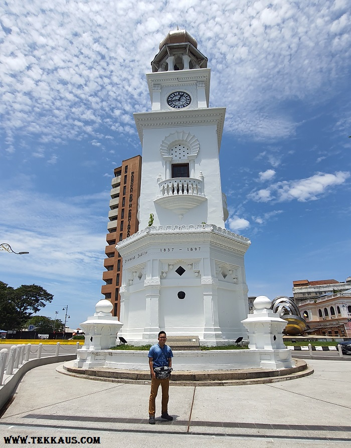 The 60 Feet Jubilee Clock Tower In Penang