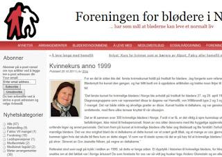 Eldre helseartikkel jeg skrev for Foreningen for blødere i Norge.
